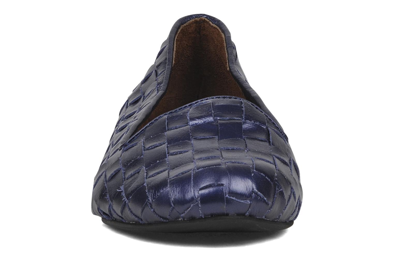 Mocassins Jeffrey Campbell Dunsmore Bleu vue portées chaussures
