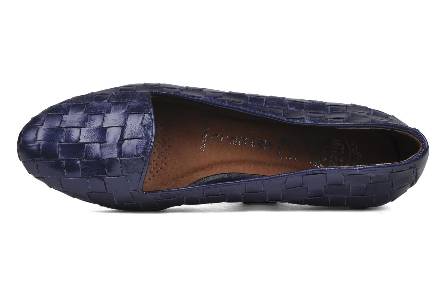 Slipper Jeffrey Campbell Dunsmore blau ansicht von links
