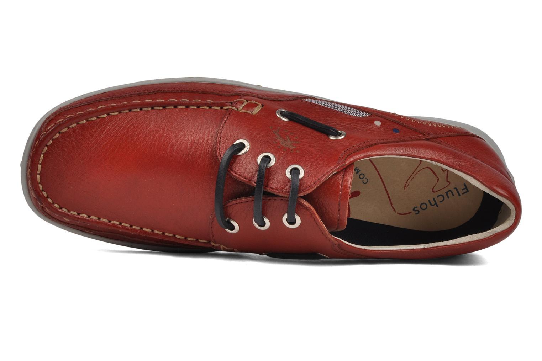 Zapatos con cordones Fluchos Desafio 7175 Rojo vista lateral izquierda