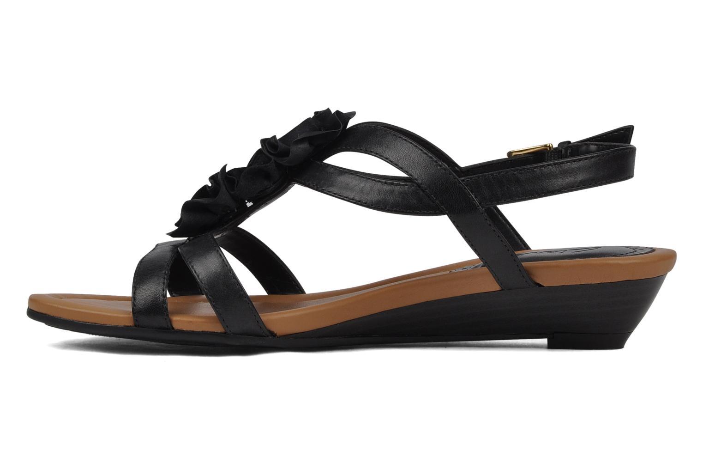 Sandales et nu-pieds Clarks Santa rock Noir vue face