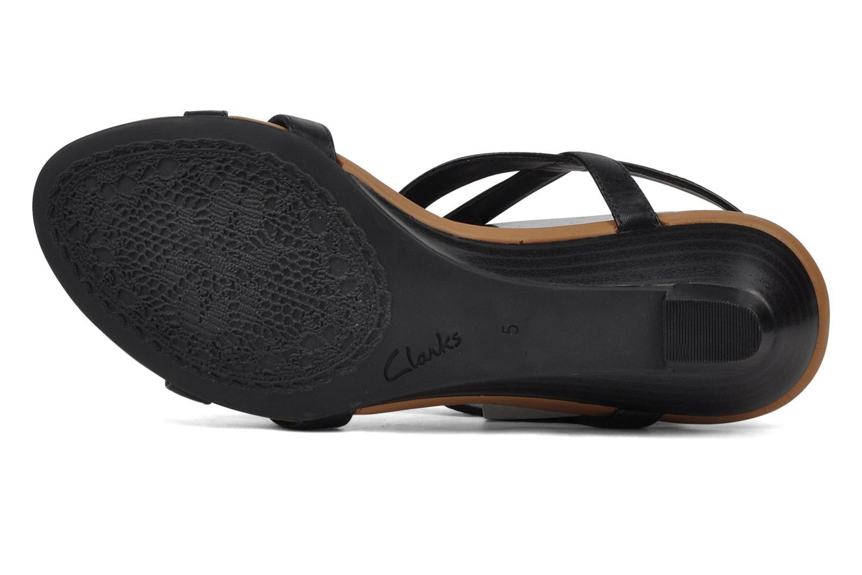 Sandales et nu-pieds Clarks Santa rock Noir vue haut