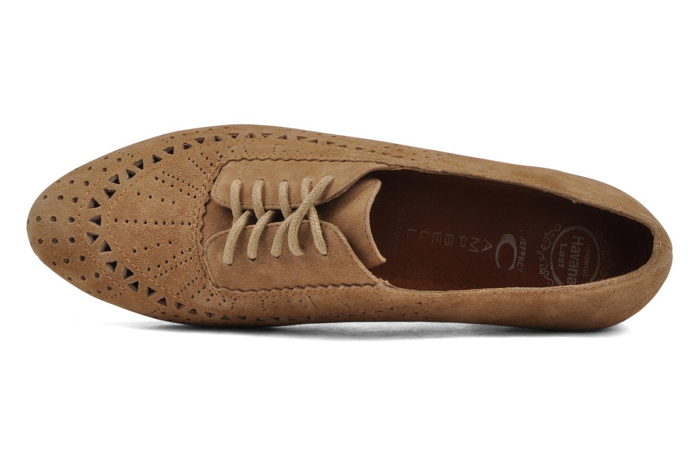 Chaussures à lacets Jeffrey Campbell Miller Beige vue gauche