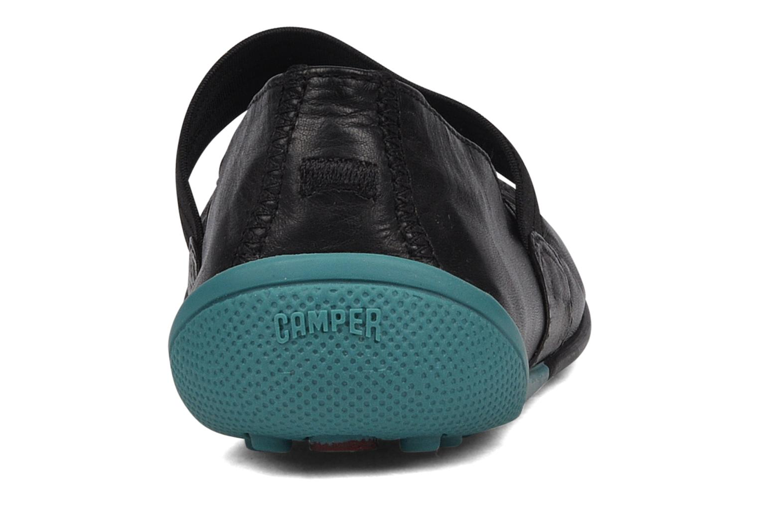 Ballet pumps Camper Peu circuit 21360 Black view from the right