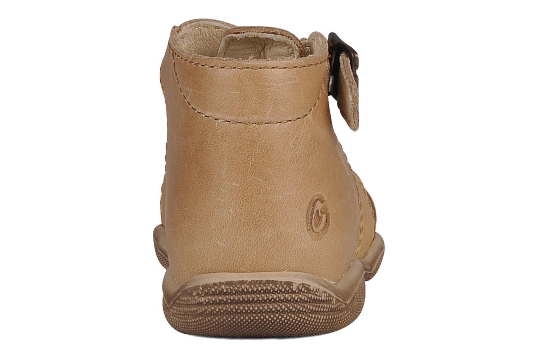 Sandales et nu-pieds GBB Lionel Beige vue droite