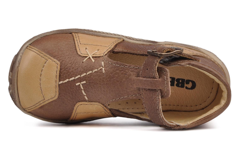 Bottines et boots GBB Loic Marron vue gauche