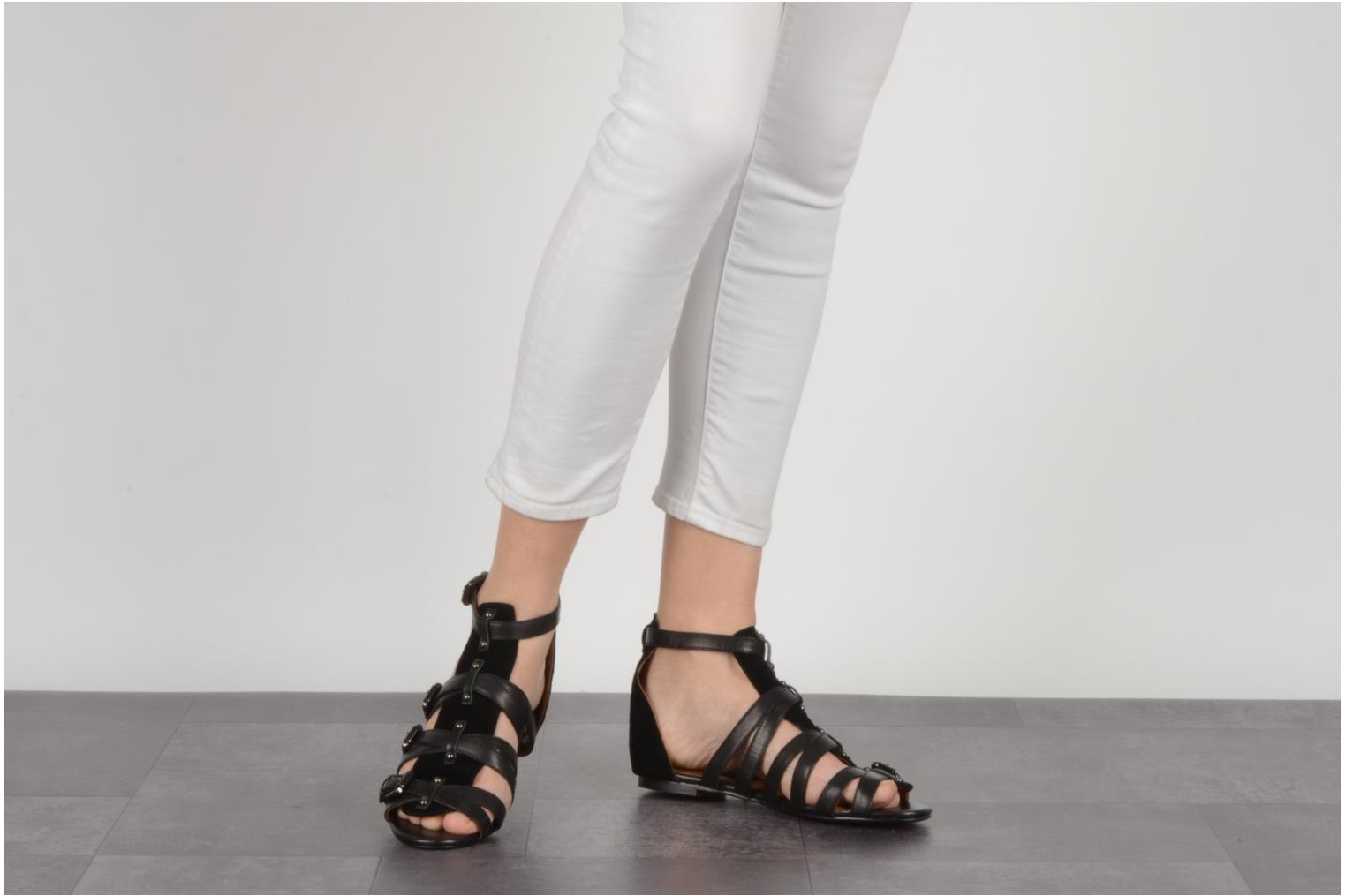 Sandals Friis & company Varinka Black view from underneath / model view