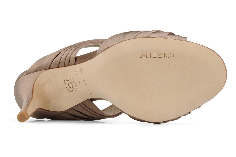 Sandales et nu-pieds Miezko Rebecca Beige vue haut