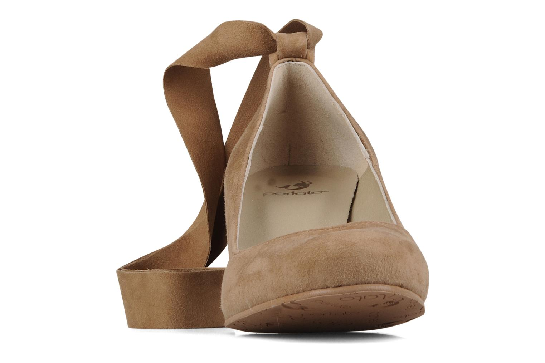 Escarpins Perlato Batz Marron vue portées chaussures