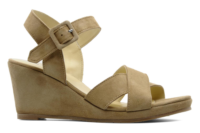 Sandalen Perlato Paros Beige achterkant