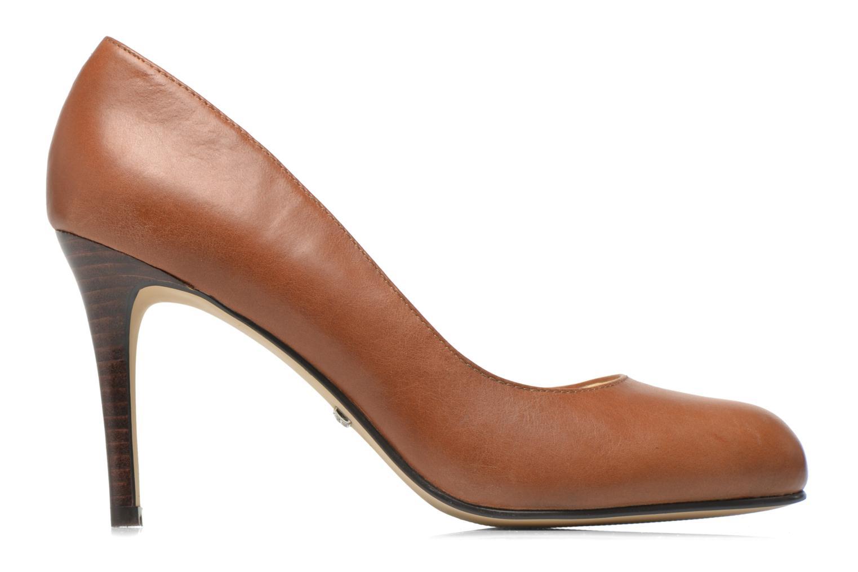 High heels Buffalo Klist Brown back view