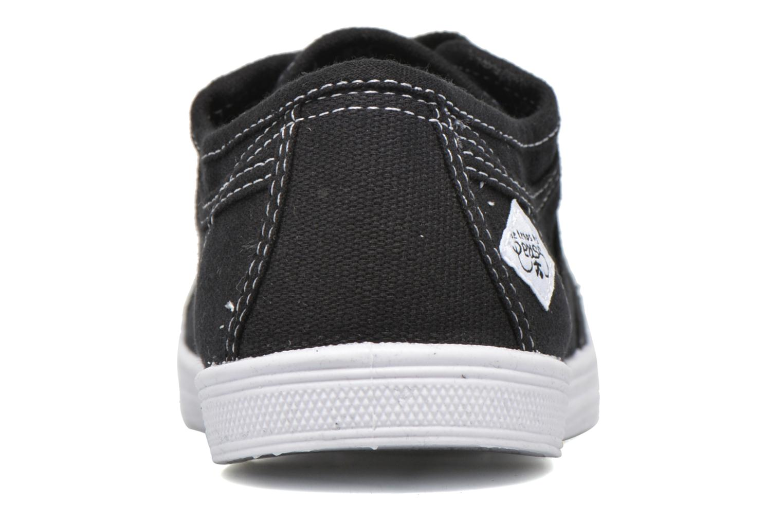 Sneaker Le temps des cerises Basic 02 schwarz ansicht von rechts