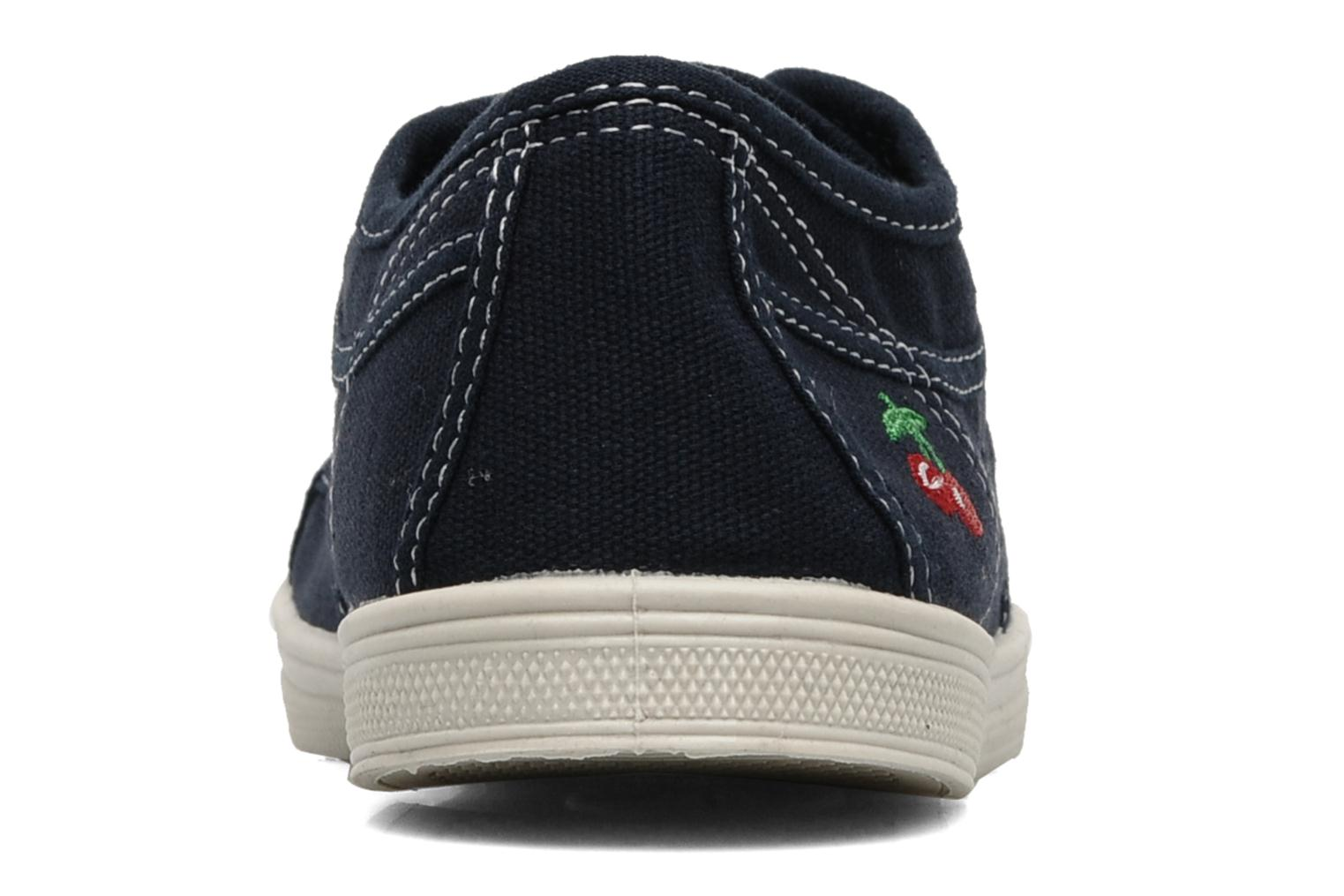 Trainers Le temps des cerises Basic 02 Blue view from the right