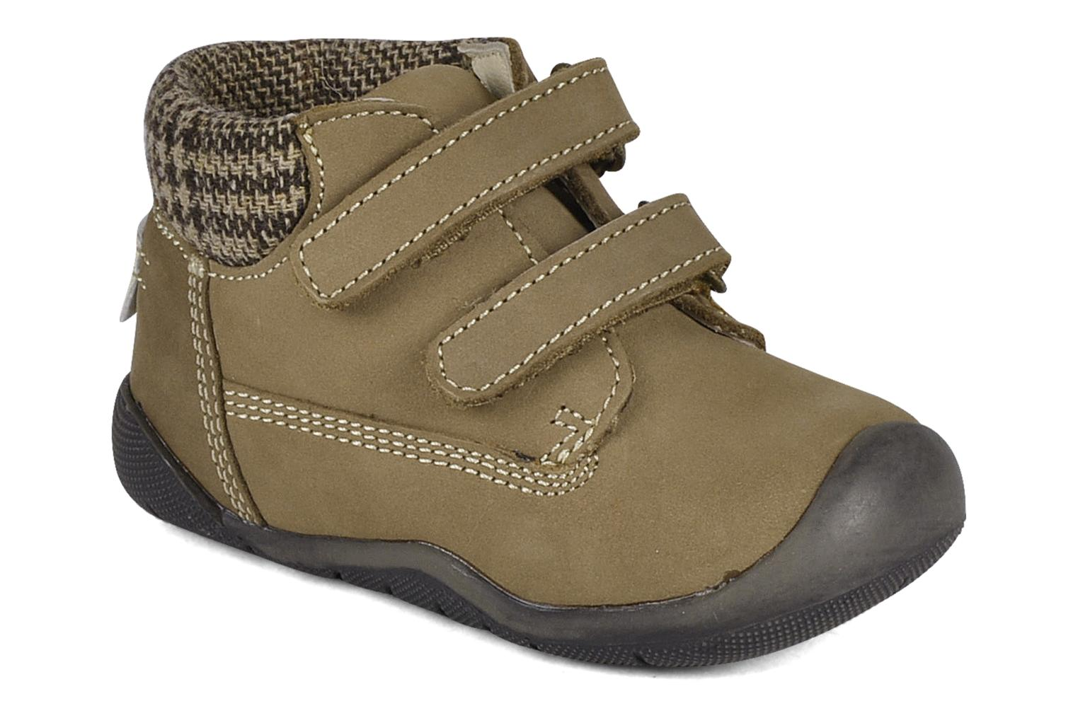 Velcro shoes Chicco Guapito Brown detailed view/ Pair view