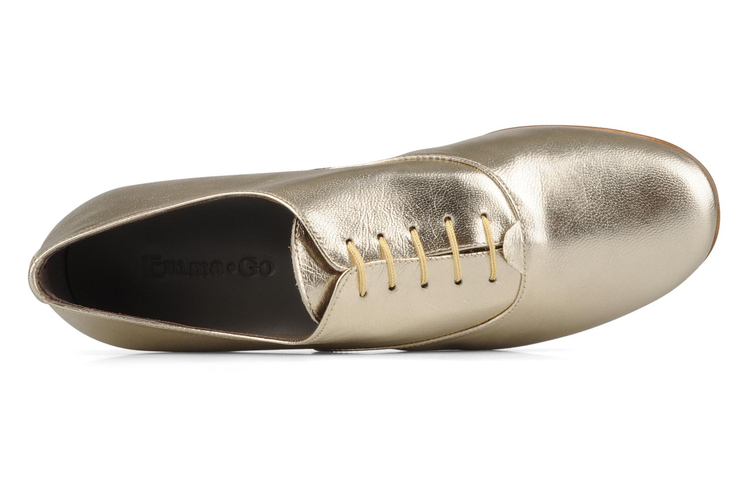 Lace-up shoes Emma Go Juddy Bronze and Gold view from the left