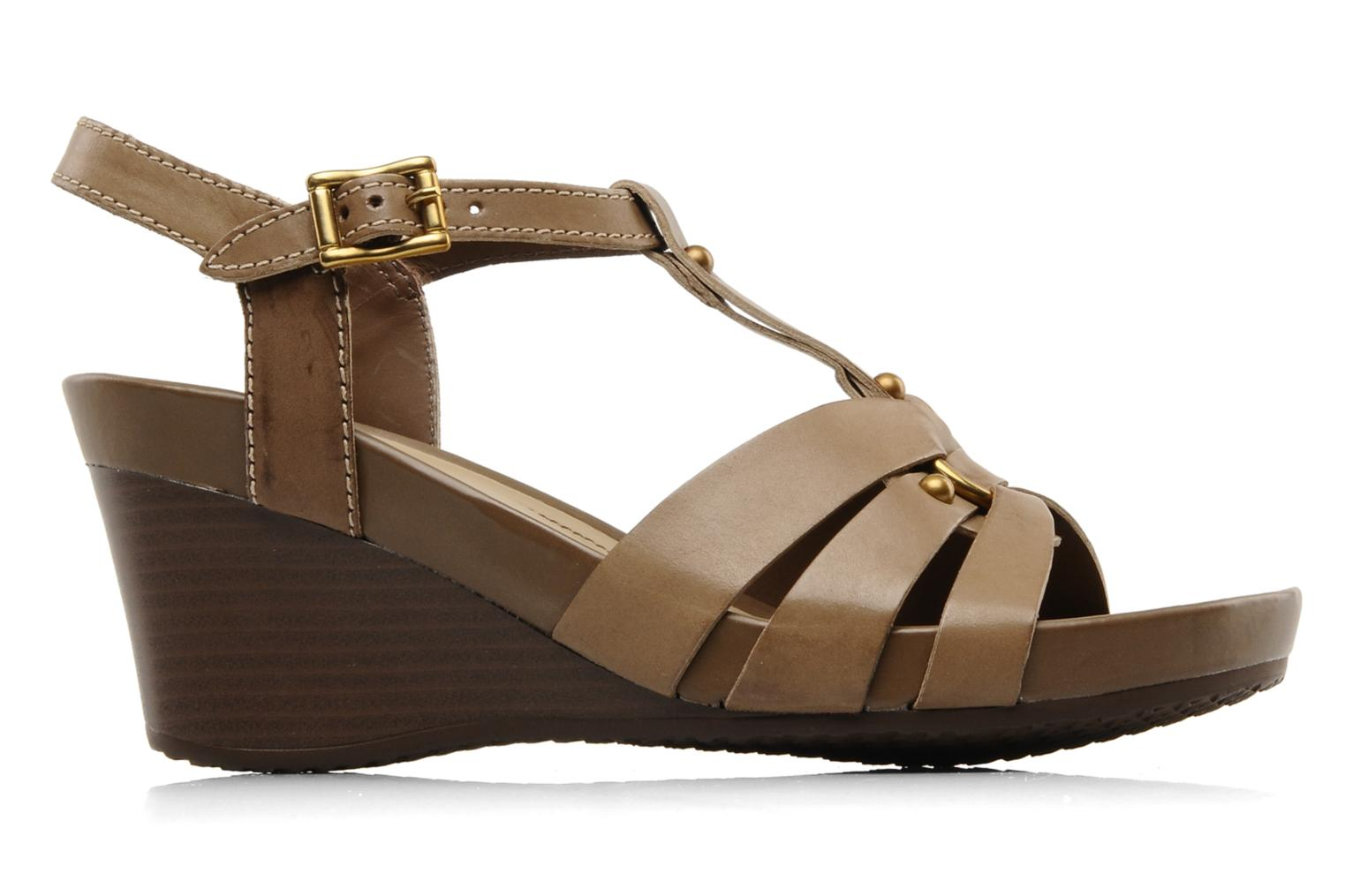 Sandals Geox D roxy z Brown back view