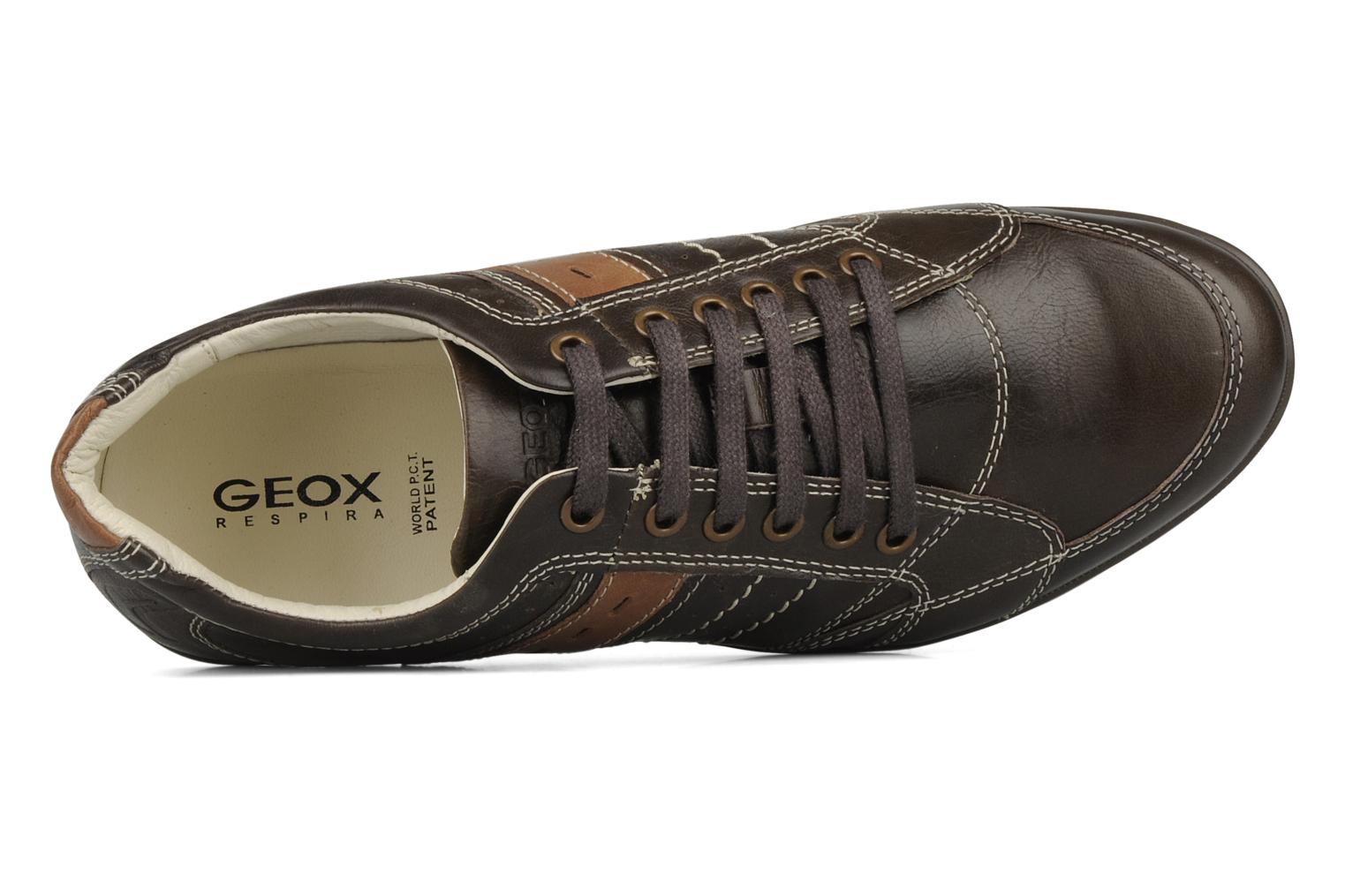 Trainers Geox U icona a Brown view from the left