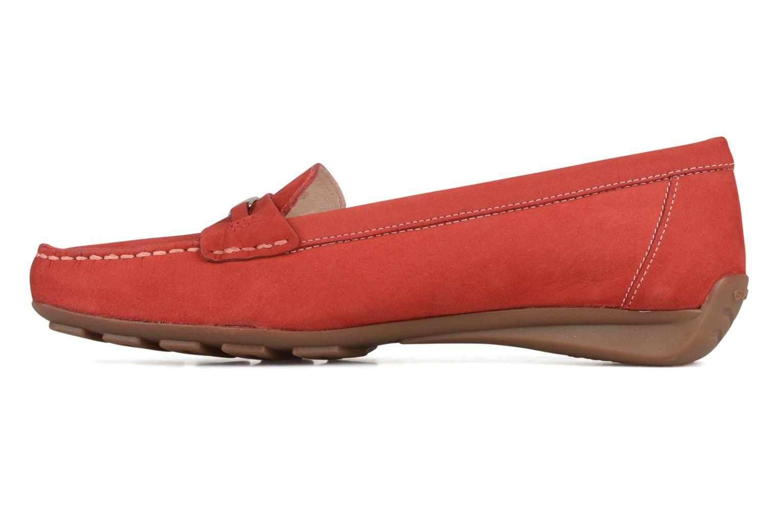 Loafers Geox D grin a Red front view