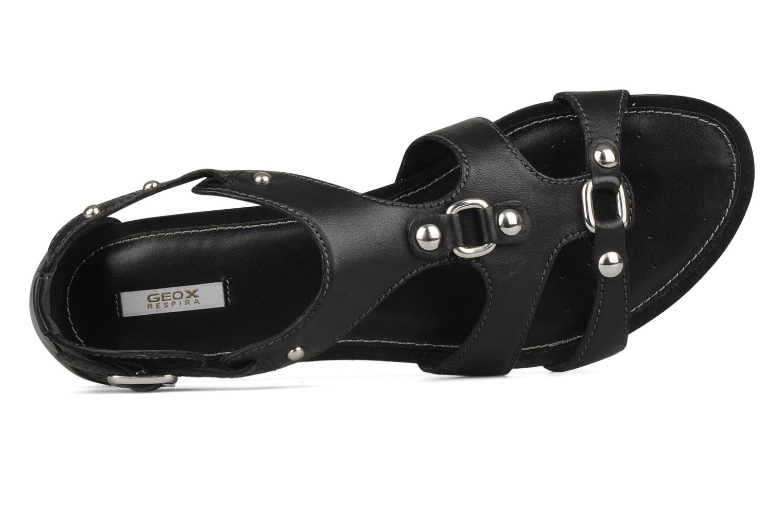 Sandals Geox D felisa b Black view from the left