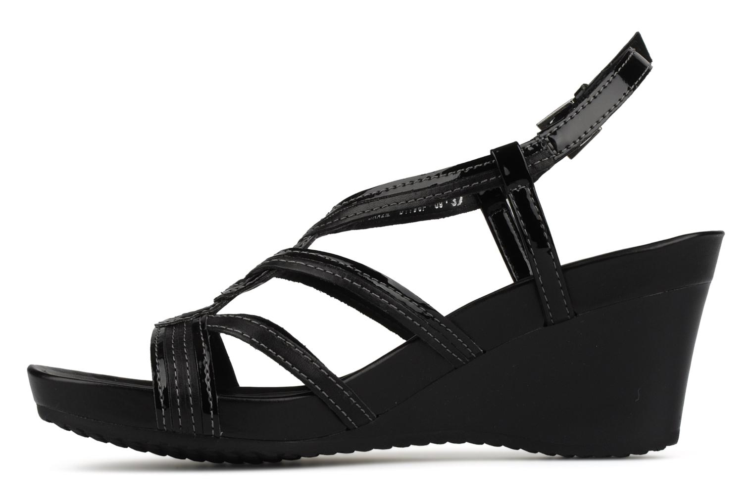 Sandals Geox D roxy s f Black front view