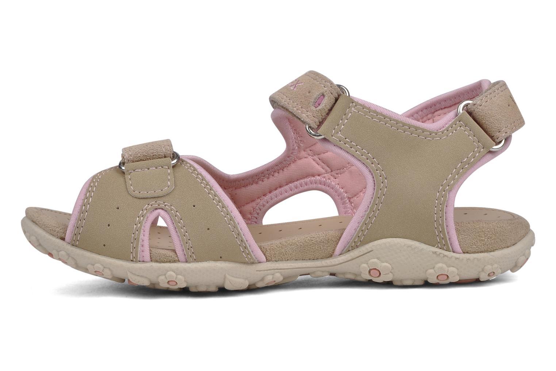 Sport shoes Geox J s.roxanne r Beige front view