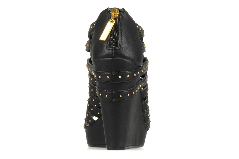 Sandales et nu-pieds Carvela Animal Noir vue droite