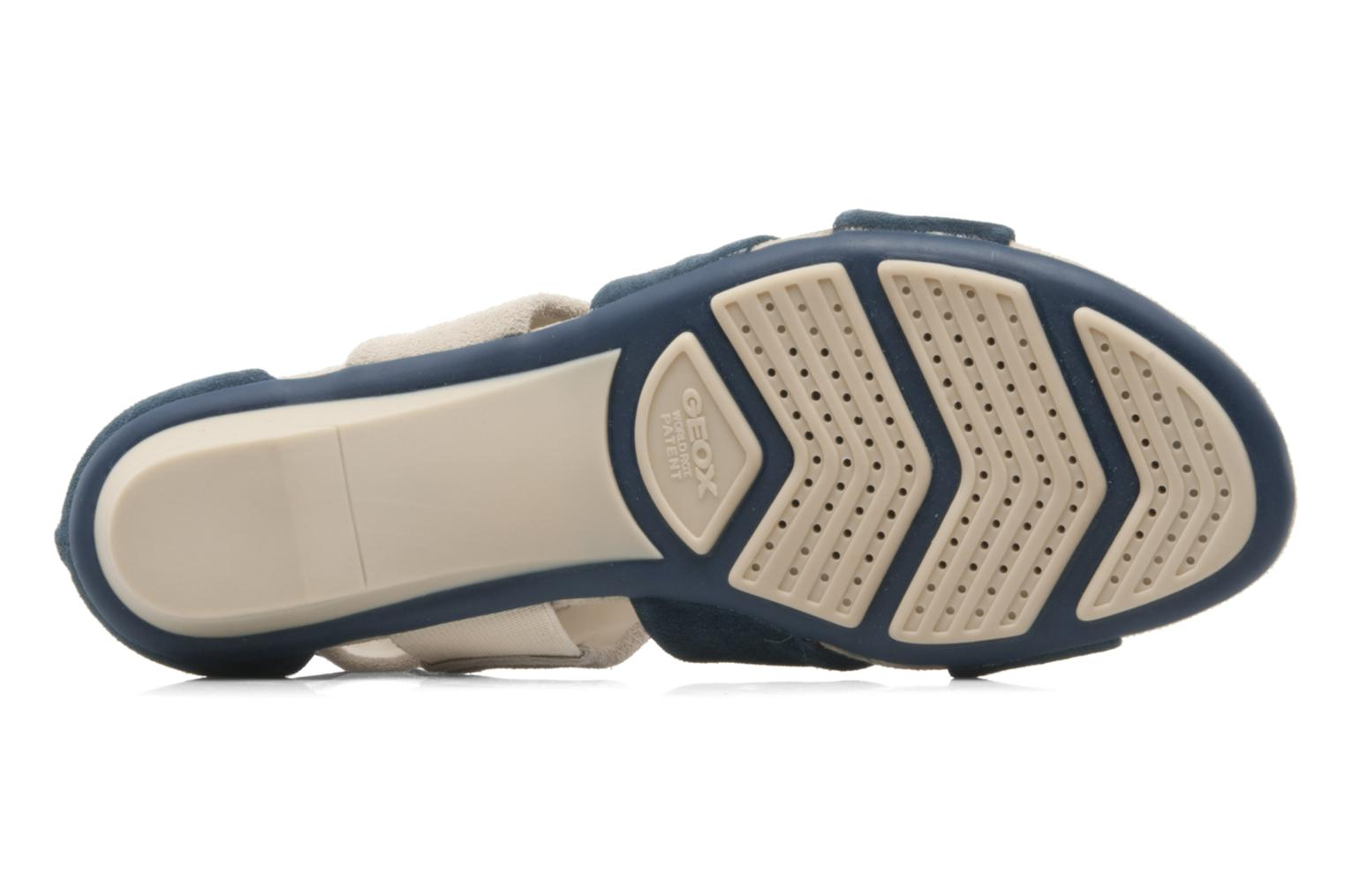 Sandals Geox D felisa f Blue view from above