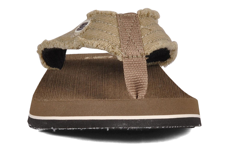 Zehensandalen Skechers Fray 60421 braun schuhe getragen
