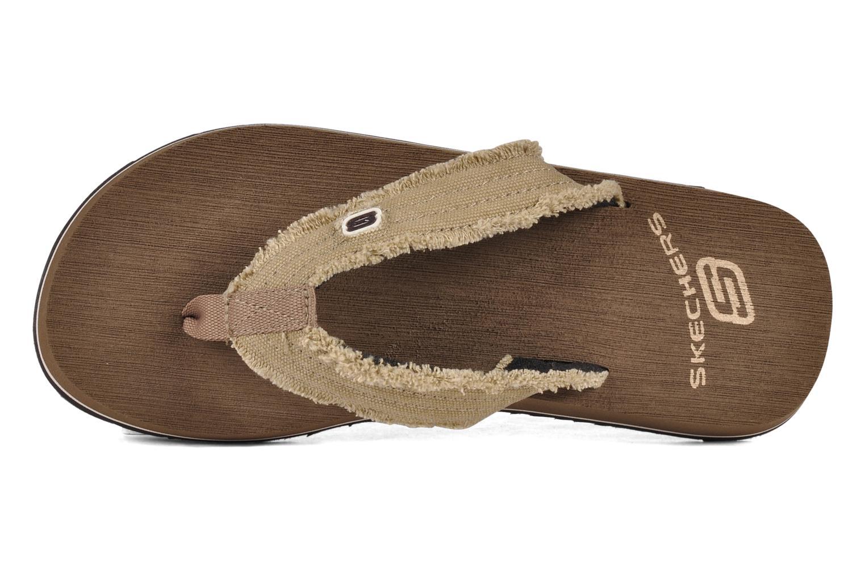 Tongs Skechers Fray 60421 Marron vue gauche