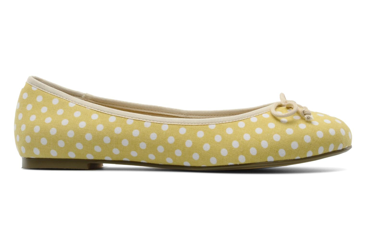 Pakita Yellow white dots fabric