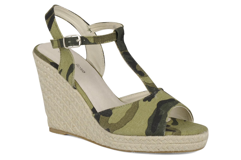 Sandales et nu-pieds Georgia Rose Uly Vert vue détail/paire