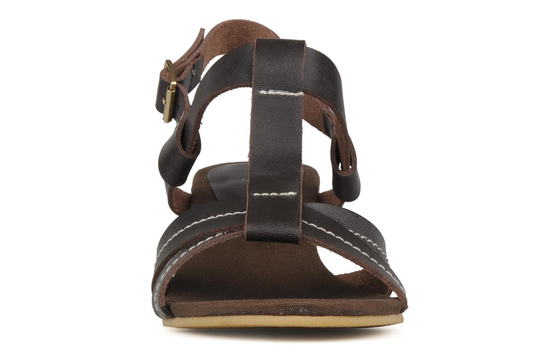 Sandales et nu-pieds Georgia Rose Mirna Marron vue portées chaussures