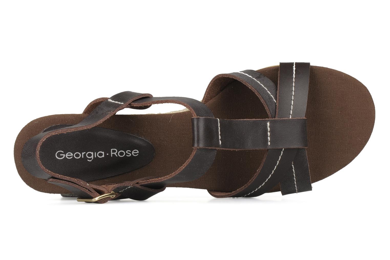 Sandales et nu-pieds Georgia Rose Mirna Marron vue gauche