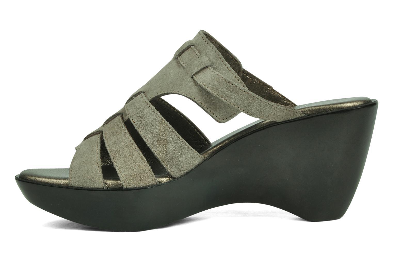 Sandales et nu-pieds Espace Angie Gris vue face