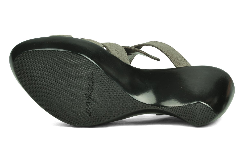 Sandales et nu-pieds Espace Angie Gris vue haut