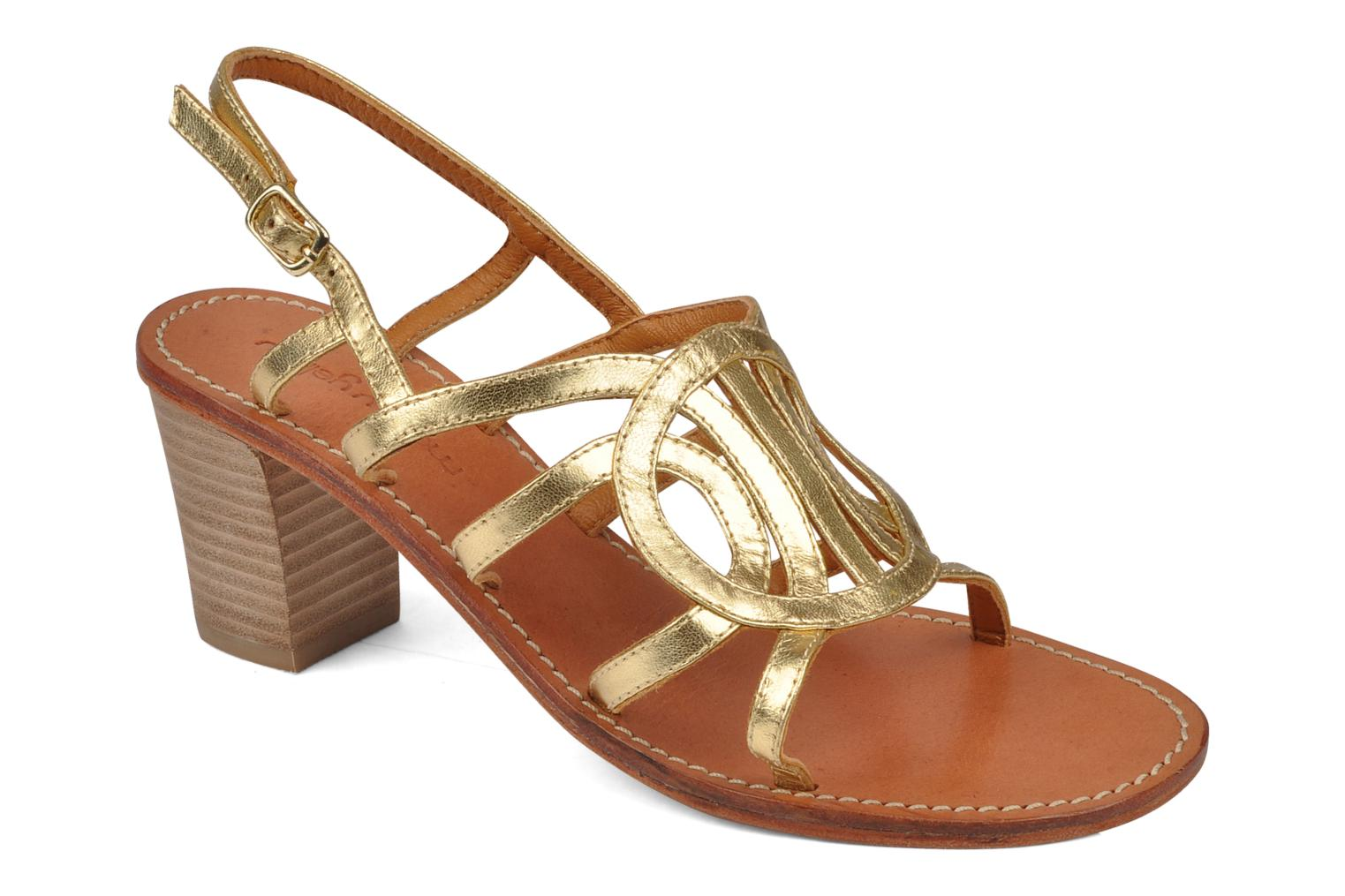 Sandals Mellow Yellow Jargon Bronze and Gold detailed view/ Pair view
