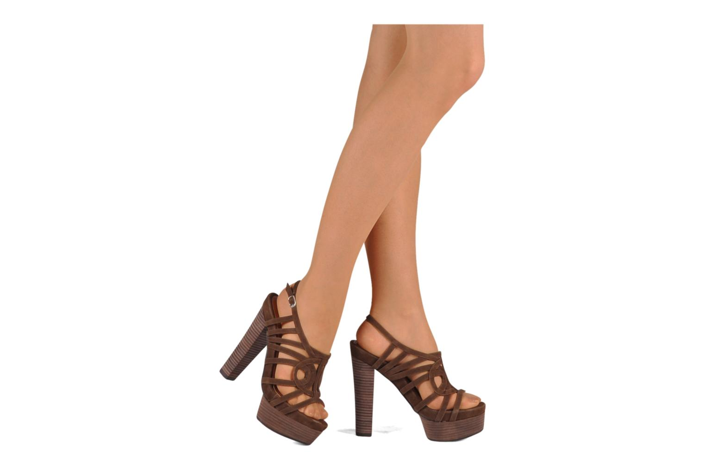 Sandales et nu-pieds Mellow Yellow Jenvy Marron vue bas / vue portée sac