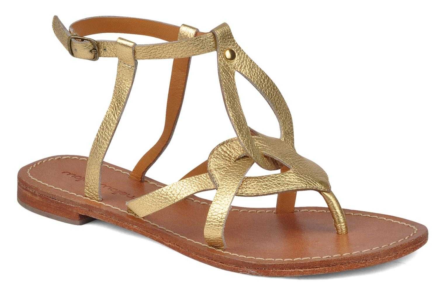 Sandals Mellow Yellow Joke Bronze and Gold detailed view/ Pair view
