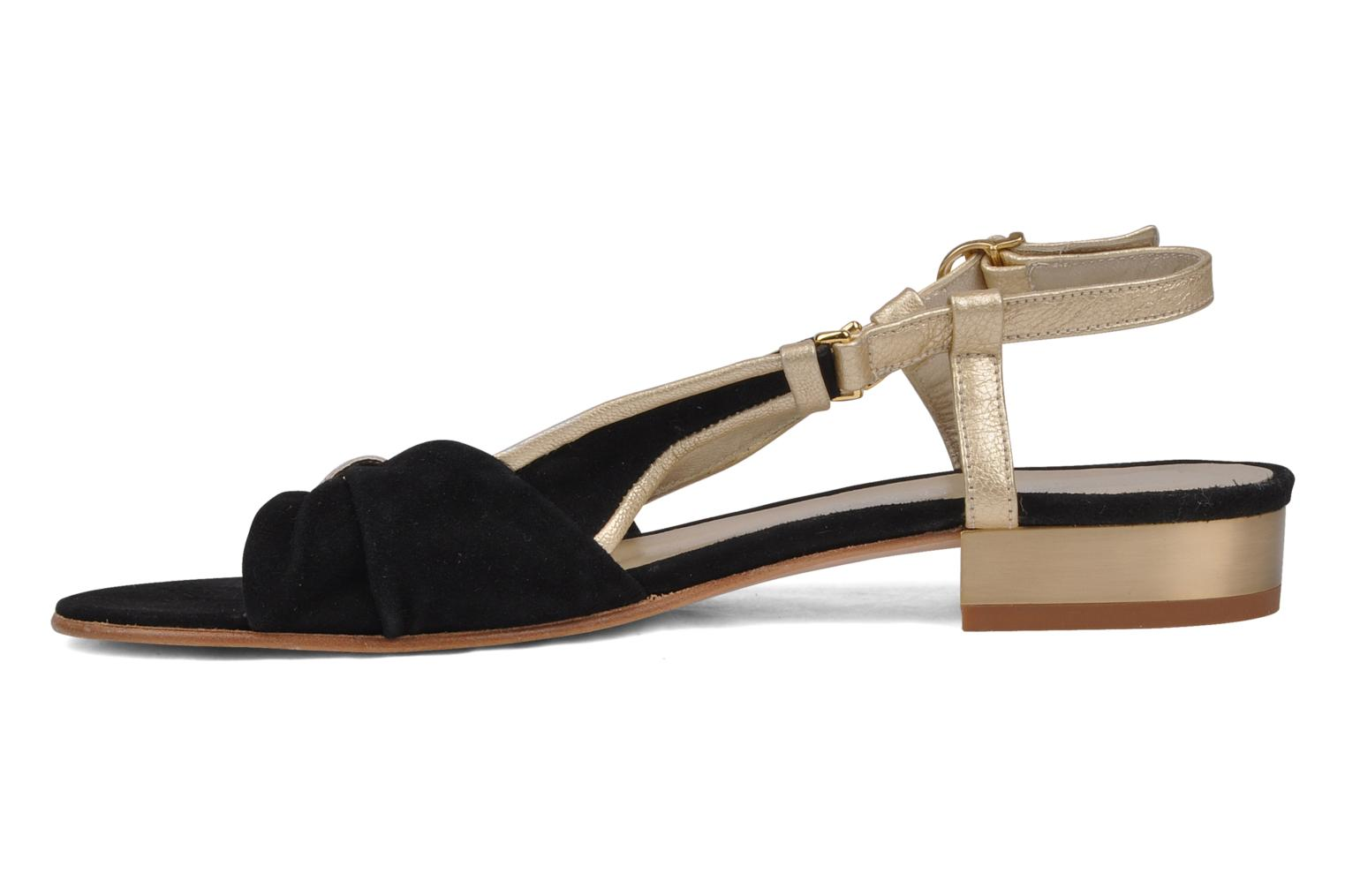 Sandals Mellow Yellow Janette Black front view
