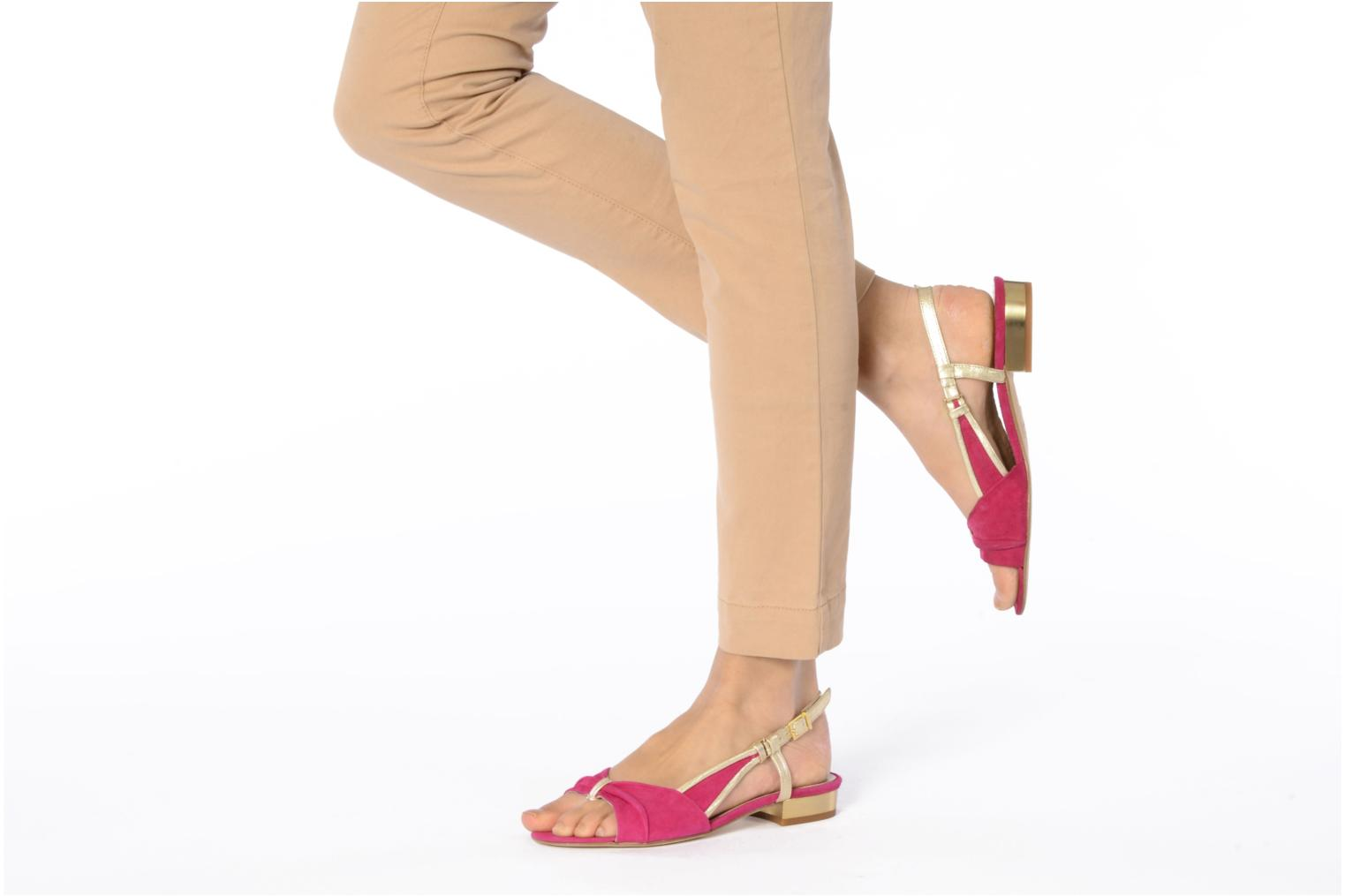 Sandals Mellow Yellow Janette Pink view from underneath / model view