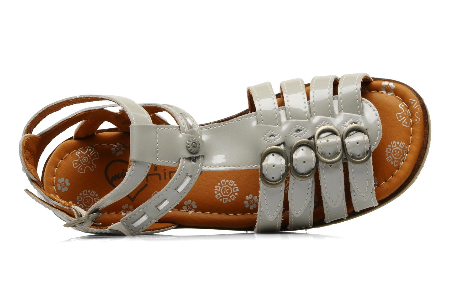Sandals Start Rite Peruvian Silver view from the left