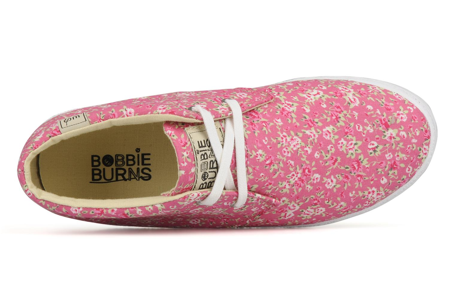 Baskets Bobbie Burns Gobi textile w Rose vue gauche