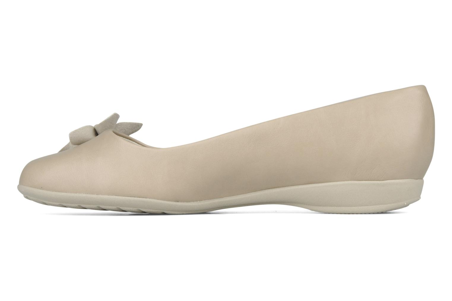 Ballerines Piccadilly Clarence Beige vue face