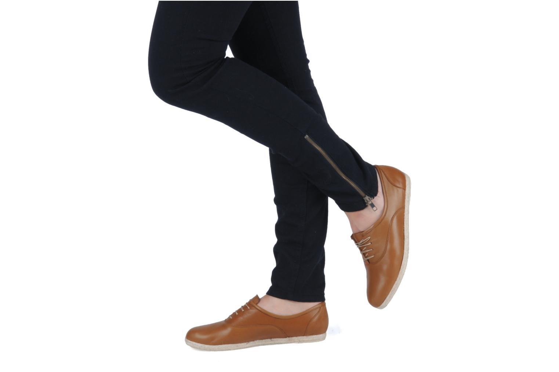 Zapatos con cordones Zespà Salhia Marrón vista de abajo