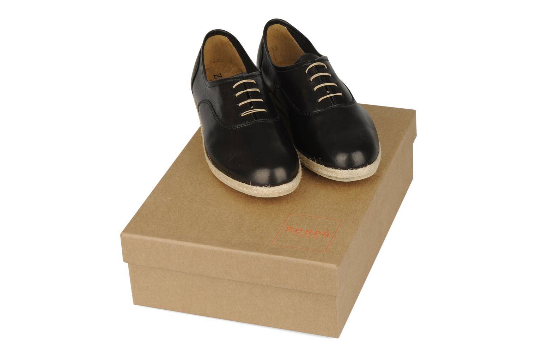 Lace-up shoes Zespà Salhia Black 3/4 view