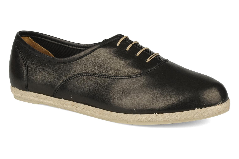 Lace-up shoes Zespà Salhia Black detailed view/ Pair view