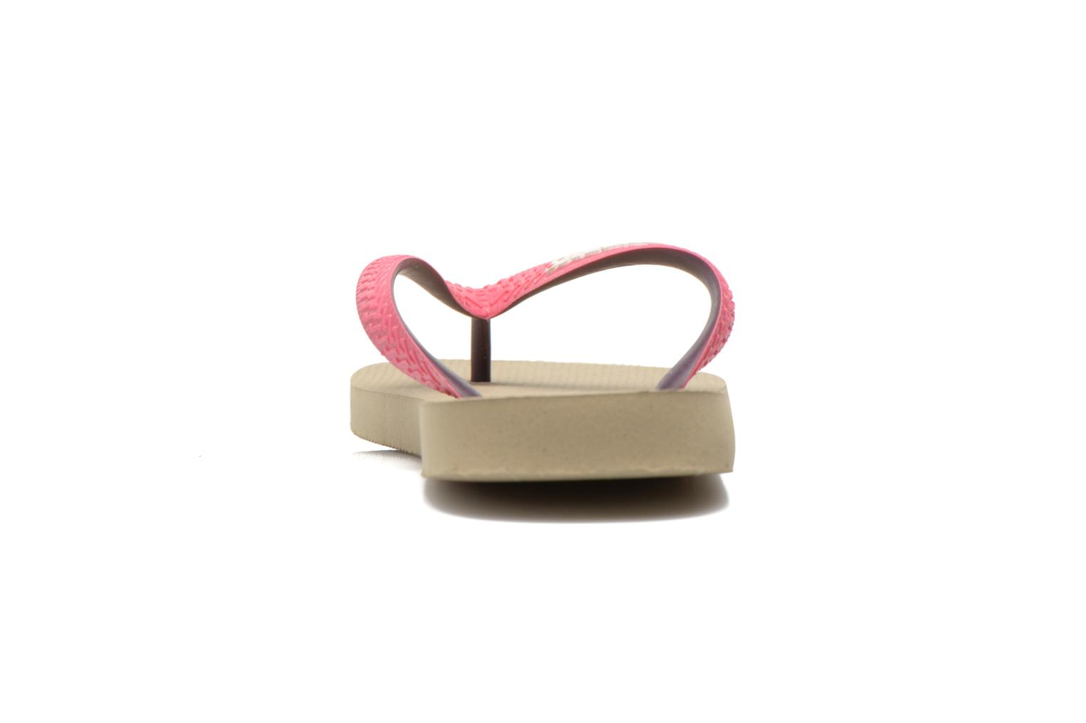 Flip flops Havaianas Top mix f Beige view from the right