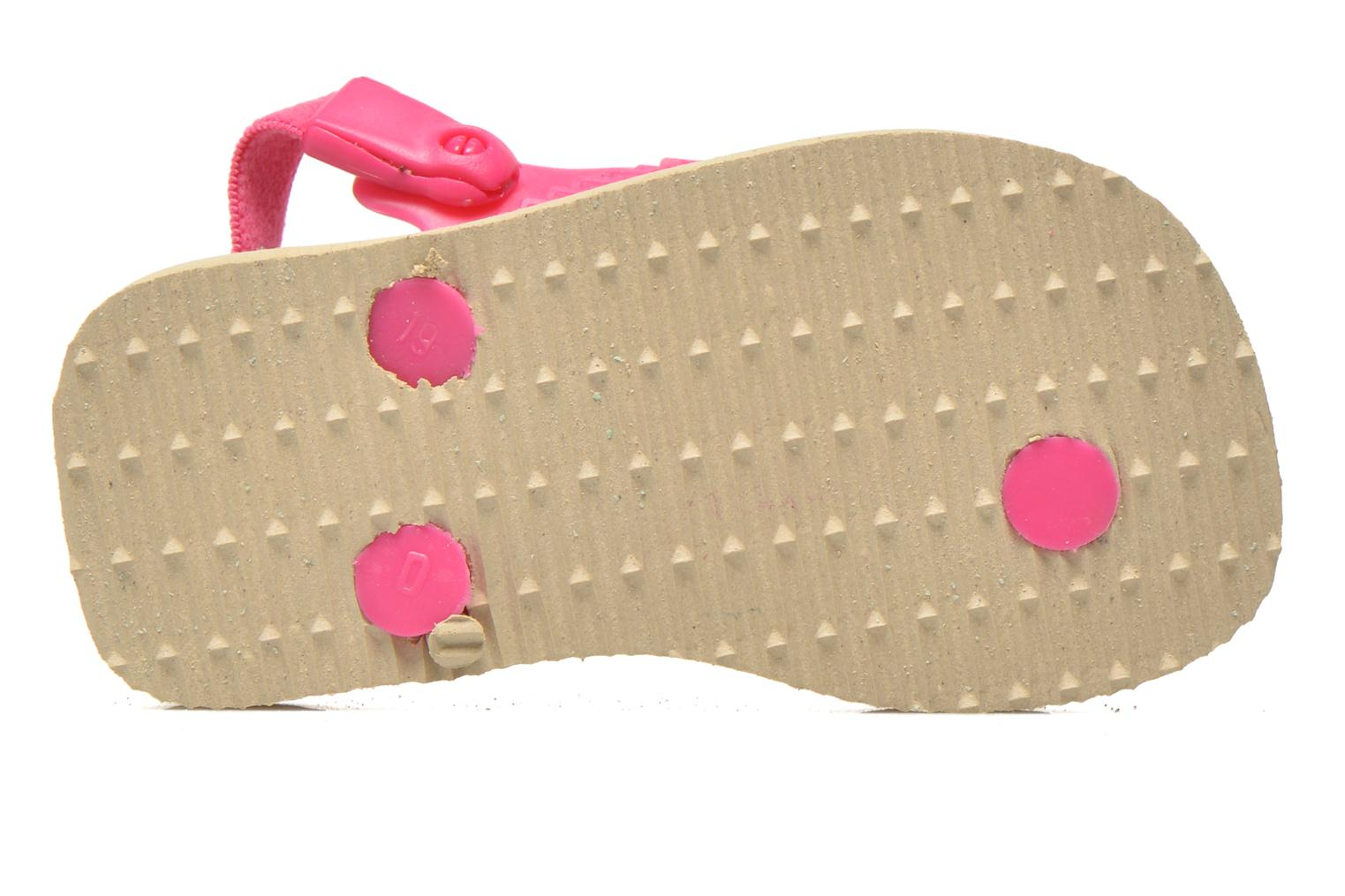 Tongs Havaianas Baby chic Rose vue haut