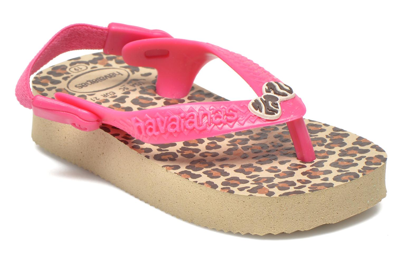 Tongs Havaianas Baby chic Rose vue détail/paire