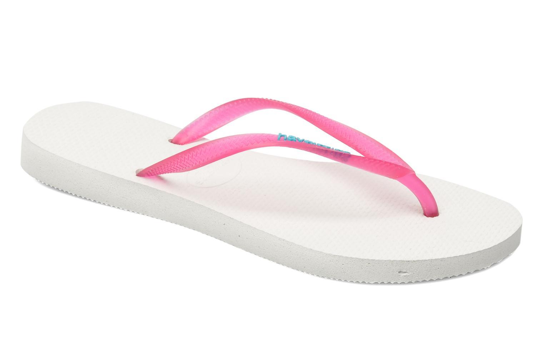 Flip flops & klipklapper Havaianas Slim logo femme Pink detaljeret billede af skoene