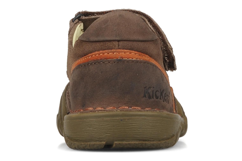 Sandales et nu-pieds Kickers Racky Marron vue droite